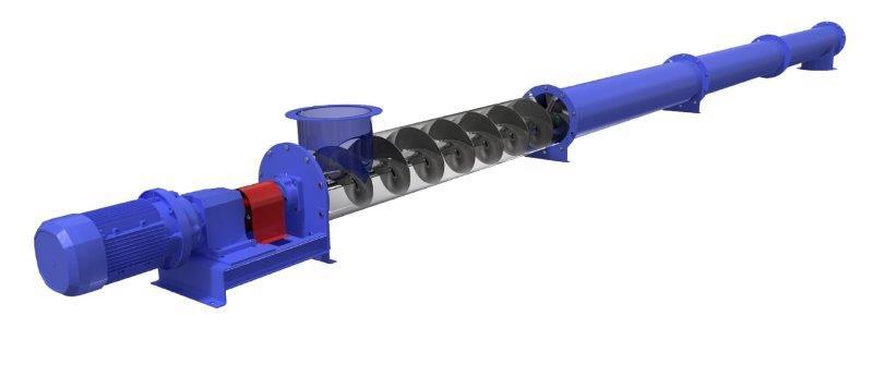Rosca transportadora helicoidal tubular